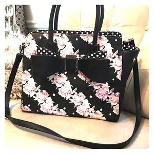 Betsey Johnson floral bag with bow